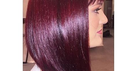 wella formula   shining red violet hair color red