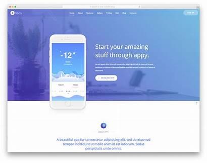 Template Website Templates Landing App Colorlib Web