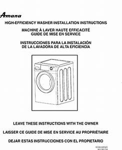 Amana Residential Washers Manual L0801106