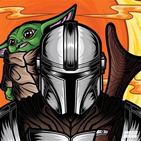Orozco Design—Store—Star Wars Mando and Baby Yoda in 2020 ...