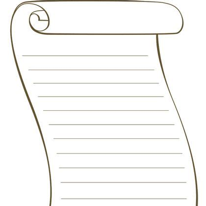 scroll template printable scroll paper with lines clipart best