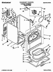 Estate Electric Dryer Parts