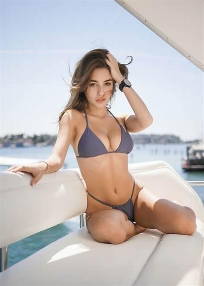 Wallpapers Bikini Woman String Boat Hq
