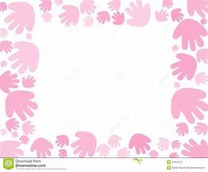 Baby Pink Handprint Background Stock Illustration - Image ...