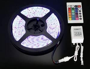 Ruban A Led : 5 metre de ruban led rgb avec telecommande changement de ~ Edinachiropracticcenter.com Idées de Décoration