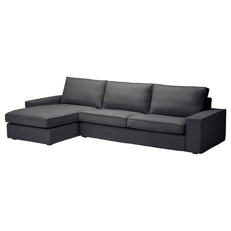 chaise design ikea kivik sofa and chaise lounge dansbo gray sofa