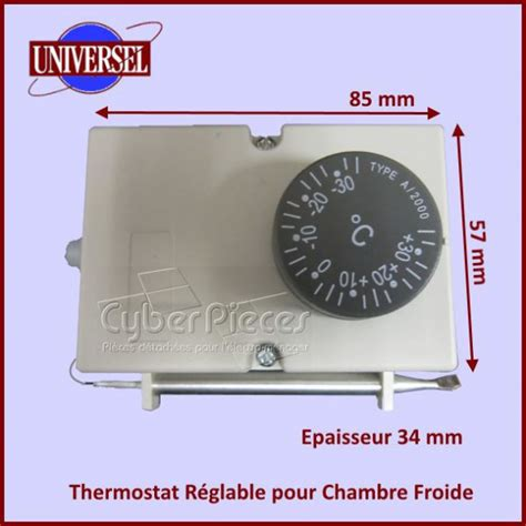 thermostat chambre froide thermostat réglable pour chambre froide pour thermostats