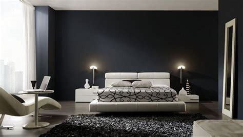 chambre en noir et blanc aménagement décoration chambre en noir et blanc