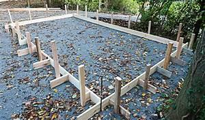 Dalle De Jardin Beton : pr paration d 39 une dalle en b ton decochalet ~ Melissatoandfro.com Idées de Décoration