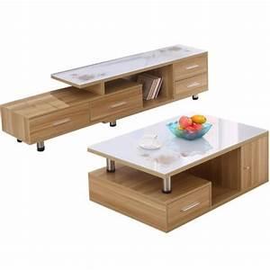 Ensemble Meuble Tv Et Table Basse : table basse et meuble tv design table basse ~ Teatrodelosmanantiales.com Idées de Décoration