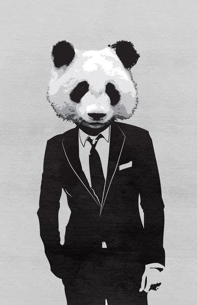 Animals In Suits Wallpaper - panda suit print pandas panda