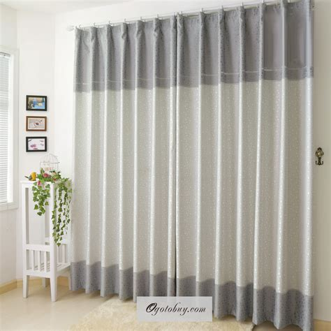 modern curtains and drapes are colored in beige color