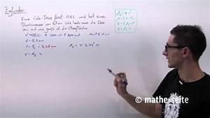 Durchmesser Berechnen Zylinder : zylinder berechnen zylindervolumen zylinderoberfl che mantelfl che beispiel 2 ~ Themetempest.com Abrechnung