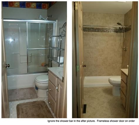 small tiny bath remodel tub  shower conversion