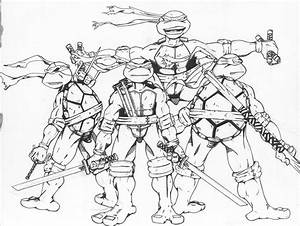 Teenage Mutant Ninja Turtles Coloring Pages For Kids