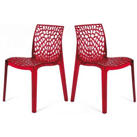 chaises plexiglass lot de 2 chaises transparentes gruyer achat