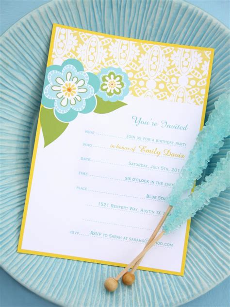 printable party invitations   occasion hgtv