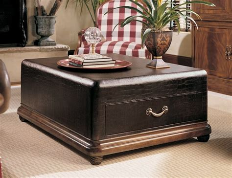 bob mackie living room furniture the furniture embossed leather trunk cocktail table