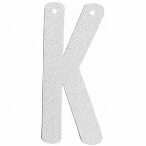 glitter letter banner garland 6inch silver letter k With silver letter banner