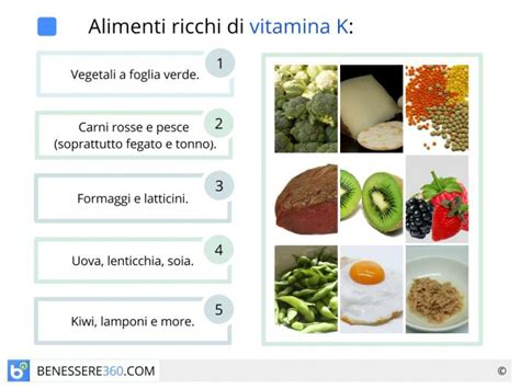 vitamina   cosa serve alimenti ricchi  rischi da carenza
