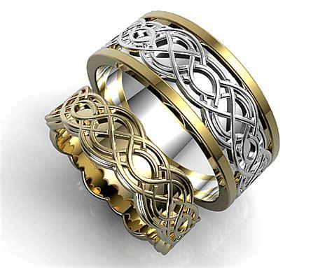 unique celtic matching wedding ring vidar jewelry unique custom engagement and wedding rings