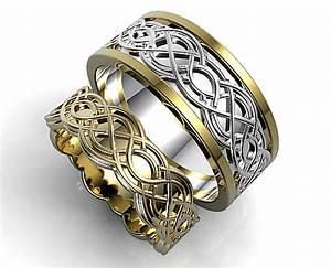 unique celtic matching wedding ring set vidar jewelry With unique celtic wedding rings
