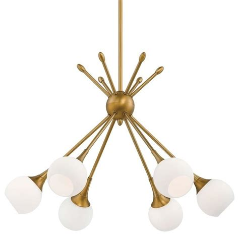 midcentury modern mobile chandelier golden brass