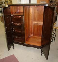 antique vintage wardrobe armoire chifferobe dresser closet
