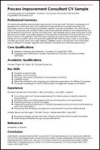 business process improvement consultant resume process improvement consultant cv sle myperfectcv