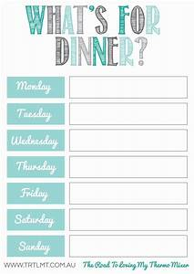 what39s for dinner 2 fb organization pinterest free With family dinner menu template