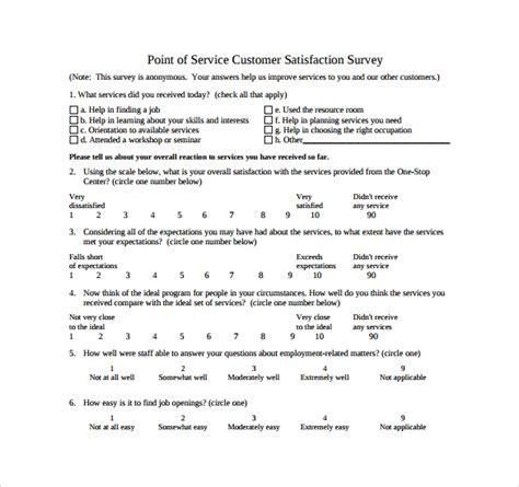 sample customer satisfaction survey  documents