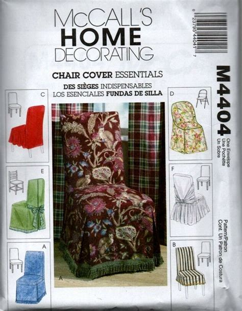 Mccall's 4404 Home Decorating Sewing Pattern Slipcovers