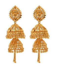 gold plated jhumka earrings by goldnera buy gold