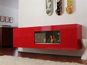 Contemporary Stand Alone Gas Fireplaces