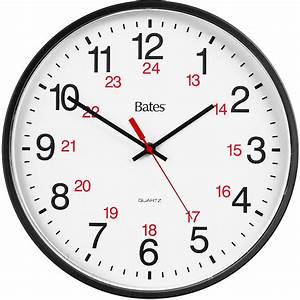 Gbc 9847027 Bates 12  24 Quartz Wall Clock
