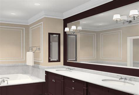 brilliant bathroom vanity mirrors decoration luxury brown