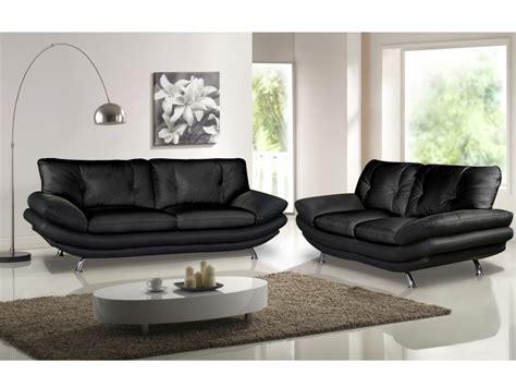 canap et fauteuils canapé et fauteuil en simili noir ou blanc forrest