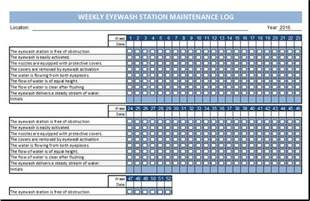 Event Run Sheet Template Eyewash Station Maintenance Log Template Excel Templates