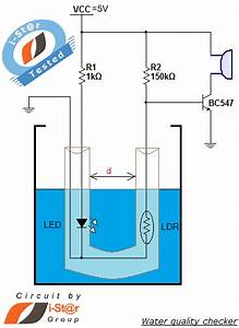 Water Quality Checker Project Simple Circuit Diagram