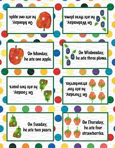 Very Hungry Caterpillar Birthday Party 3 5x5 Tent Labels