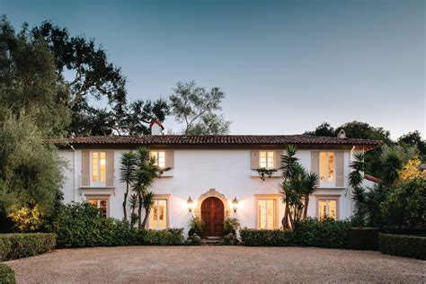 courtyard house plans colonial style santa barbara architectural digest