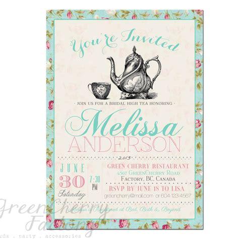 tea party invitation templates  print  printable