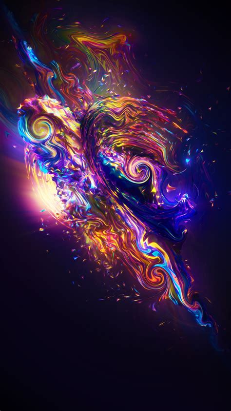 wallpaper carnival render colorful fractal neon sci fi  abstract
