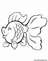Coloring Pages Fish Cartoon Gold Printable Drawings Animal Colouring Adult Colorful Info Adults Books Sheets sketch template