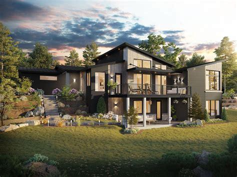 francisco northwest modern house plan by stewart