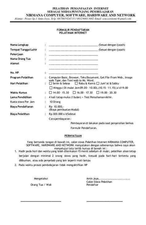 Contoh Formulir Pendaftaran - JobsDB