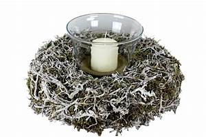 Bonsai Im Glas : creatina naturkranz mit bonsai sten und moos mit einem windlicht aus glas und einer kerze ~ Eleganceandgraceweddings.com Haus und Dekorationen