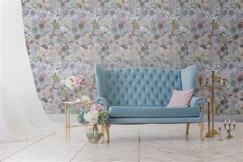 floral collage wallpaper photographed pastel flowers