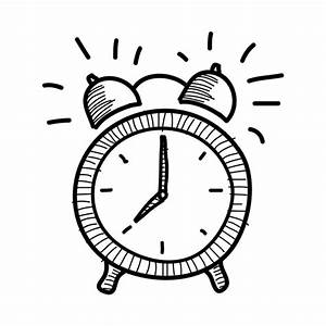 Hand drawn alarm clock icon - Transparent PNG & SVG vector