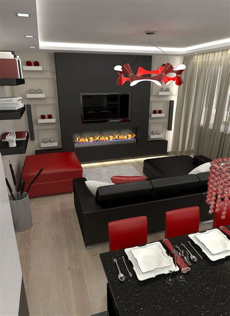 Wohnzimmer Schwarz Rot by Incridible White And Black Living Room L